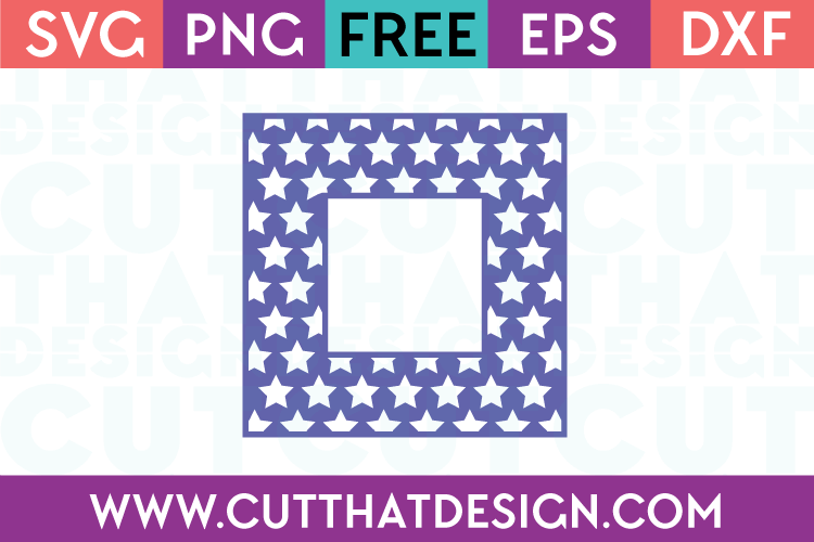 Free SVG Files Free Star Pattern Square Frame