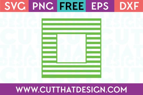 Free Square Frame SVG Cutting Files Line Pattern