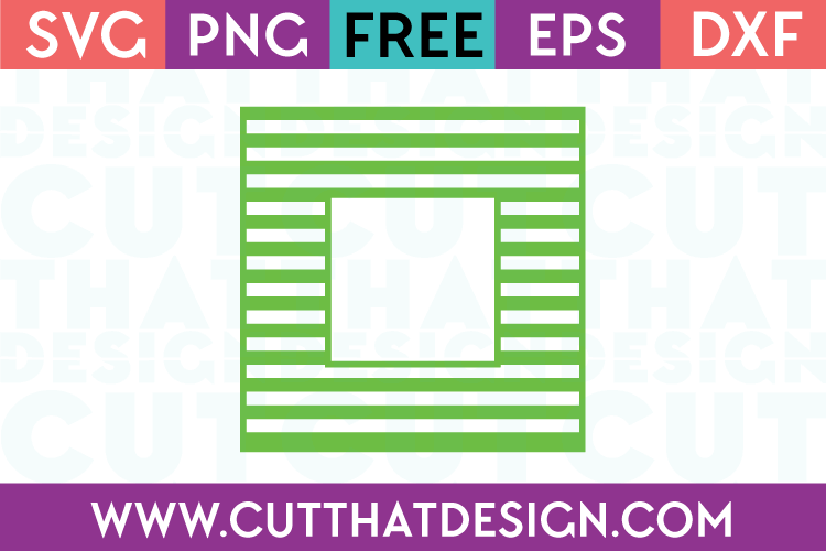 Free SVG Files Free Square Frame Line Pattern