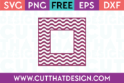 Wavy Pattern Square Frame Free SVG Cutting File