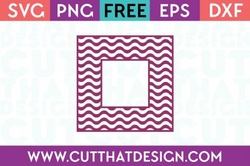 Free SVG Files Wavy Pattern Square Frame