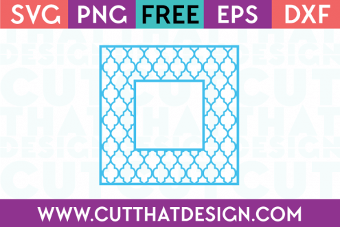 SVG Cutting Files Free Moroccan Pattern Square Frame