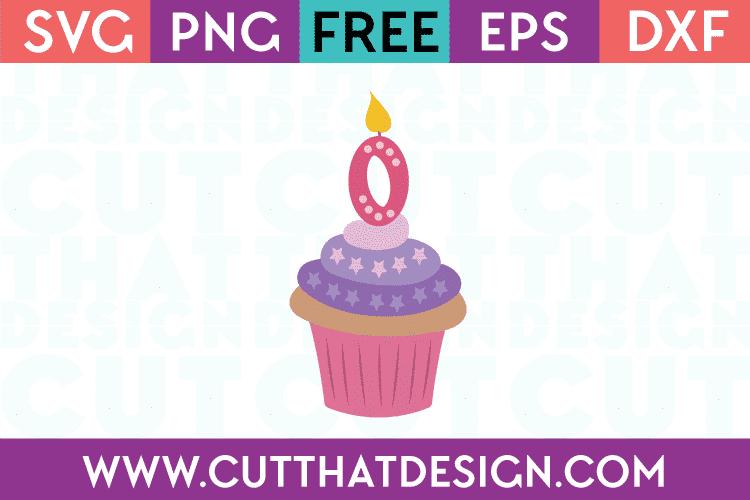 Free SVG Cupcake Number 0
