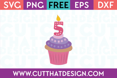 Free SVG Cutting Files Cupcake Numbers