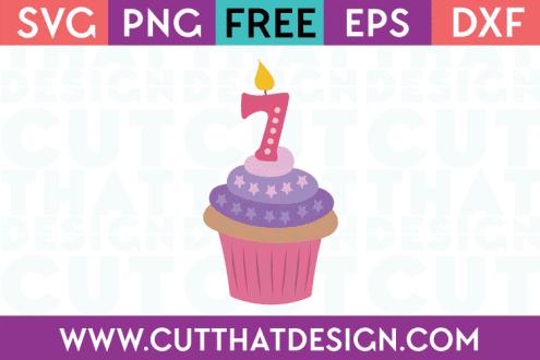Free SVG Cupcake Seven