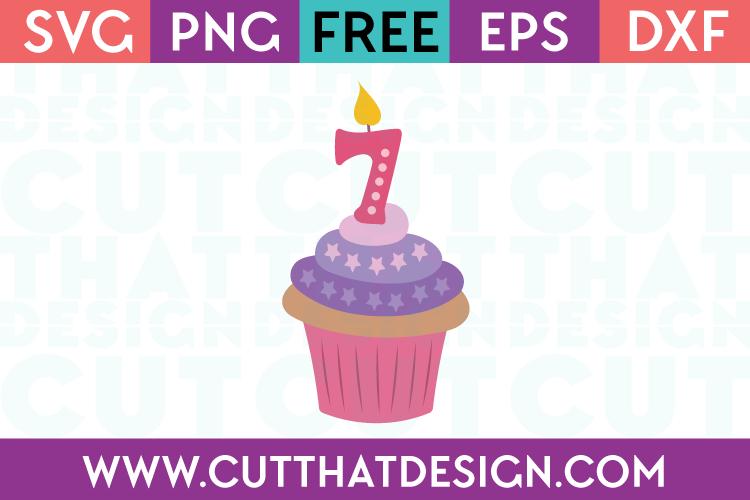 Free SVG Files Cupcake Seven