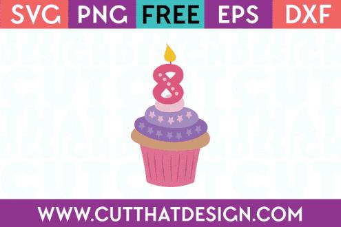 Free SVG Cupcake Candle 8