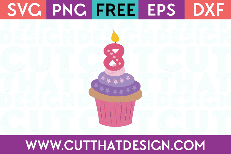 Free SVG Files Cupcake Candle 8