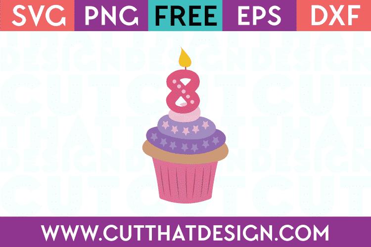 Free SVG Files Cupcake Candle 8