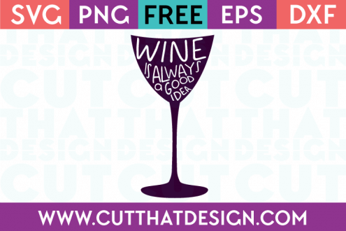 Free SVG Wine Glass Phrase