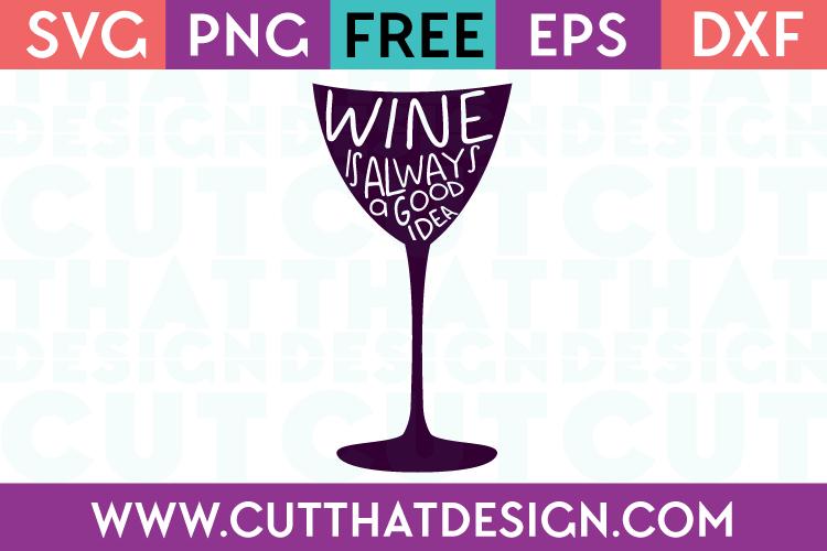 Free SVG Wine Glass Phrase