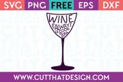 Free SVG Wine Glass Phrases