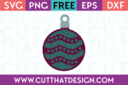 Free SVG Cutting Files Christmas Decoration Designs