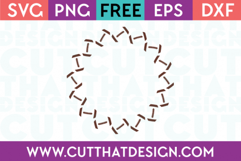 Free SVG Football Monogram Circle Frame Design