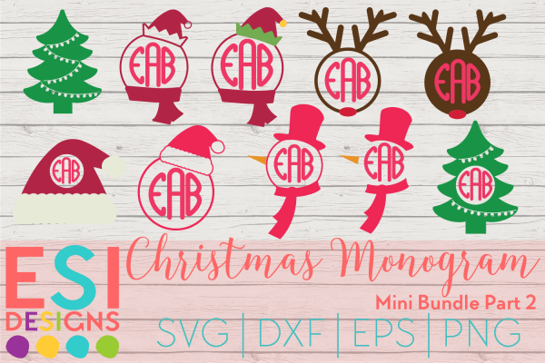 Christmas monogram svg