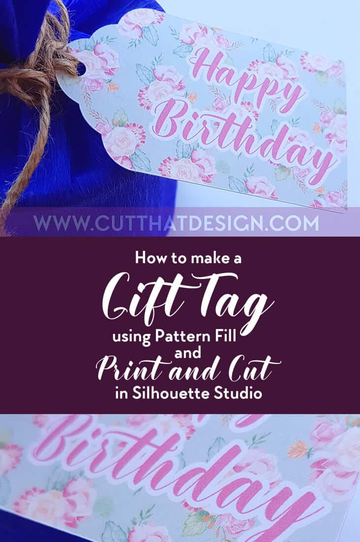 How to make a Gift Tag Using the Pattern Fill Tool and Print and Cut in Silhouette Studio