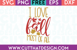 Free SVG Files I Love Fall most of all