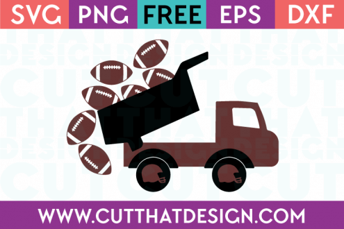 Truck with footballs free svg