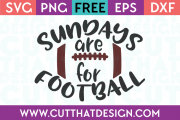 Free SVG Files Sundays are for Football