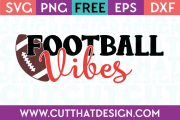 Free SVG Files Football Vibes