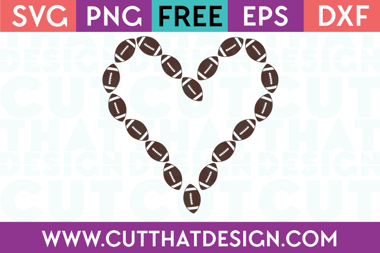 Free SVG Football Heart Design