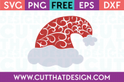 Free SVG Files Flourish Santa Hat Design