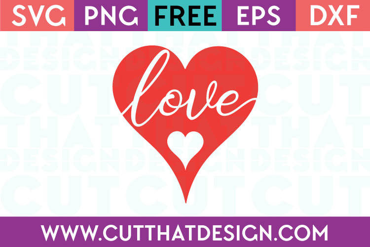 Free SVG Files Love in Heart Design