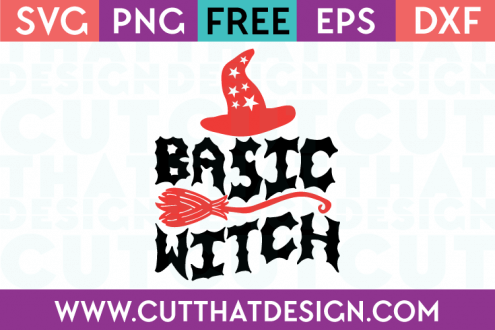 Free SVG Files Basic Witch