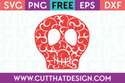 Free SVG Files Flourish Skull Design