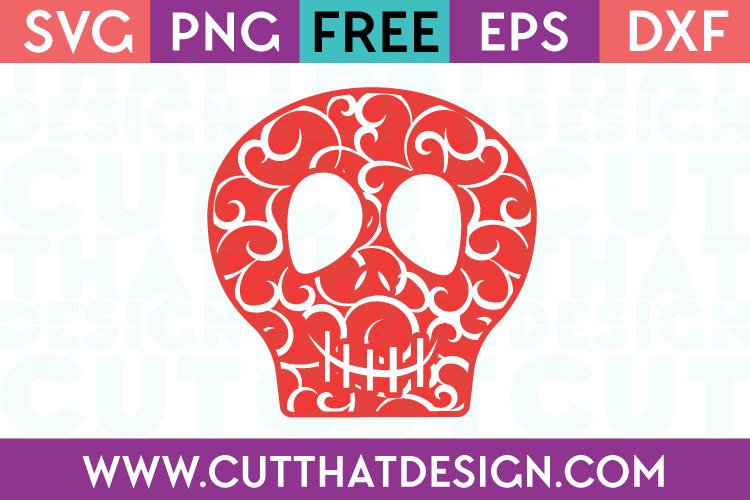 Free SVG Files Flourish Skull Design