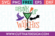 Free SVG Files Drink up Witches