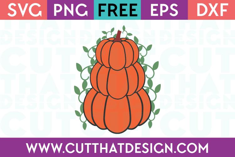 Free SVG Files Pumpkin Stack Design