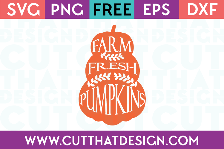 Free SVG Files Farm Fresh Pumpkins