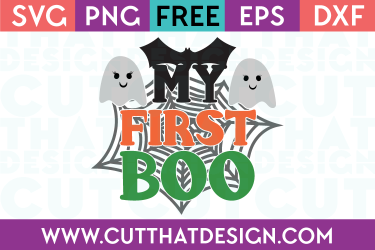 Free SVG Files My First Boo