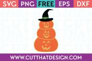 Free SVG Files Stacked Pumpkin Jack O Lanterns