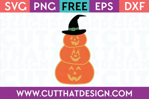 Free SVG Files Stacked Pumpkin Jack O Lanterns