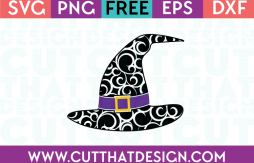 Free SVG Files Flourish Witch Hat Design