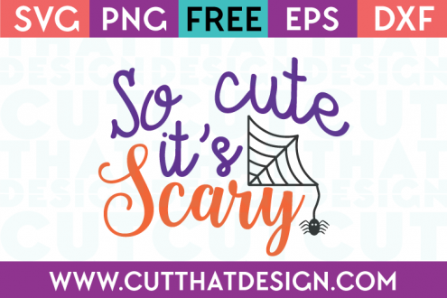 Free SVG Files So Cute it's Scary