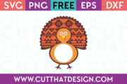 Free SVG Monogram Turkey Design