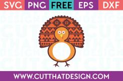 Free SVG Monogram Turkey Design