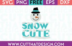 Free Snow Cute Christmas SVG
