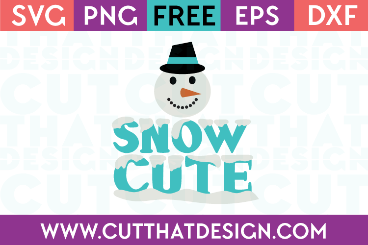 Free Snow Cute Christmas SVG
