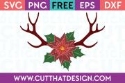 Christmas Reindeer Antler Free SVG
