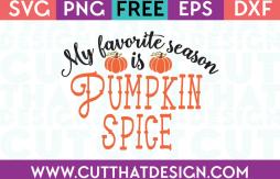 Free SVG Pumpkin Spice Favorite Season