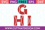 Free SVG Files Baseball Alphabet Letters G H I