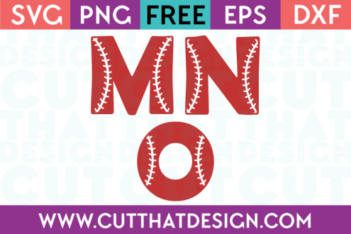 Free SVG Files Baseball Alphabet Letters M N O