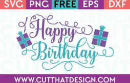 Free Happy Birthday SVG Cutting File