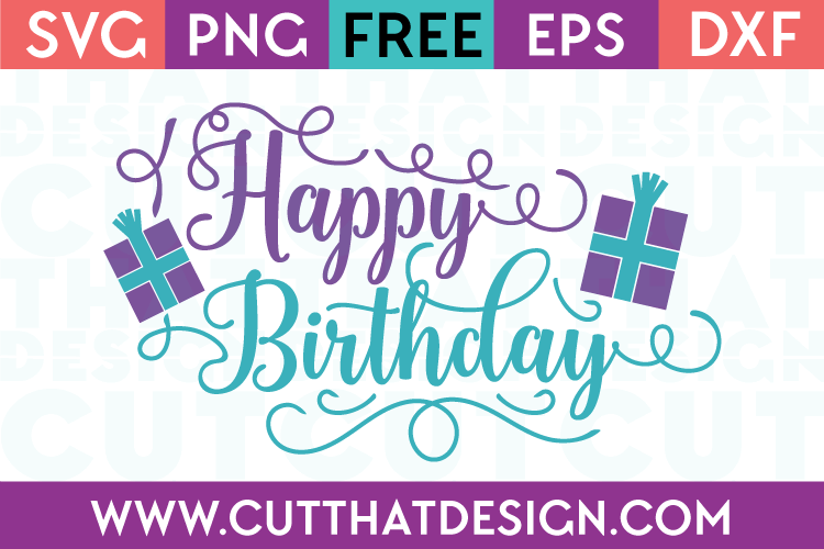 Free Happy Birthday SVG Cutting File