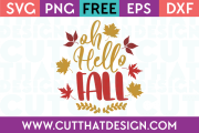 Hello Fall Free SVG
