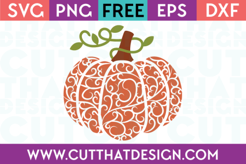 Free Flourish Pumpkin SVG Cutting File